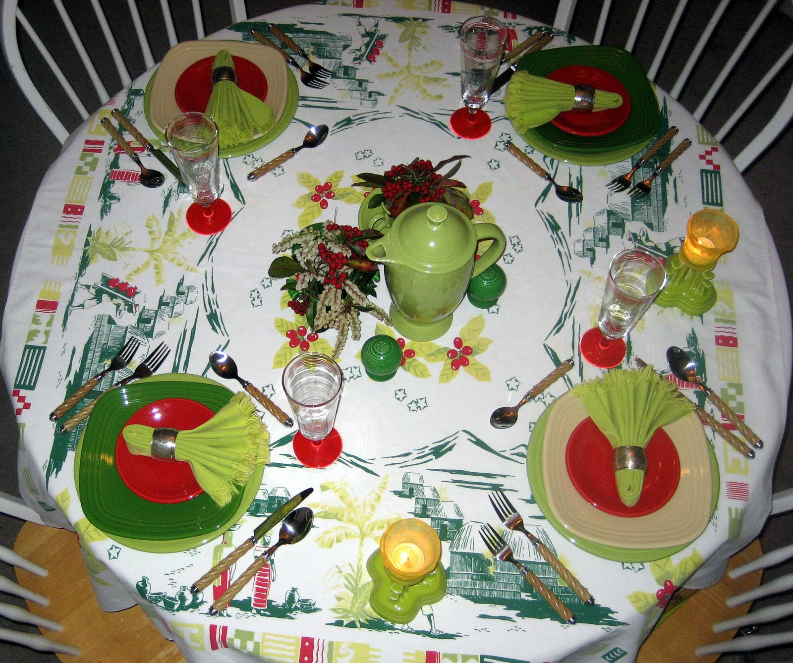 MyBecca's Vintage Tables: Coffee and Fiesta
