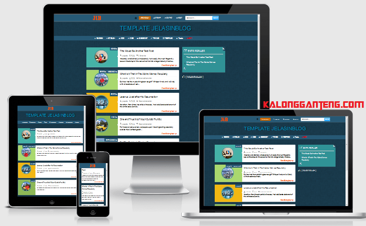 Download JIB Responsive Template dari JelasinBlog