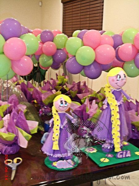 Decoracion Rapunzel Globos ~ Tema y Decoracion con Globos de Rapunzel