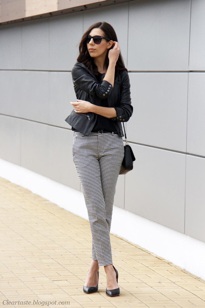 spodnie w pepitkę zara