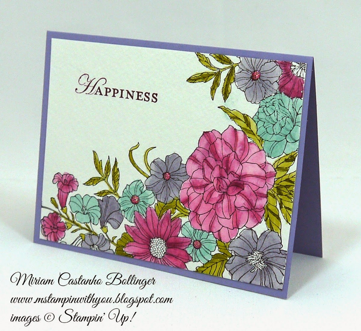 CQC 255, Miriam Castanho Bollinger, #mstampinwithyou, stampin up, demonstrator, cqc, corner garden, watercolor, wedding card, su
