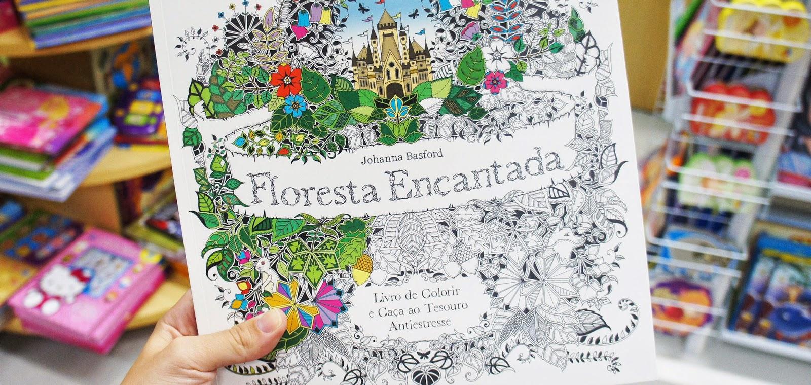 livro Floresta Encantada de Johanna Basford