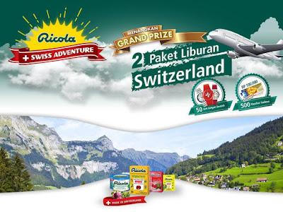 Info Kuis Lagi - Undian  Berhadiah Ricola  Swiss  Adventure