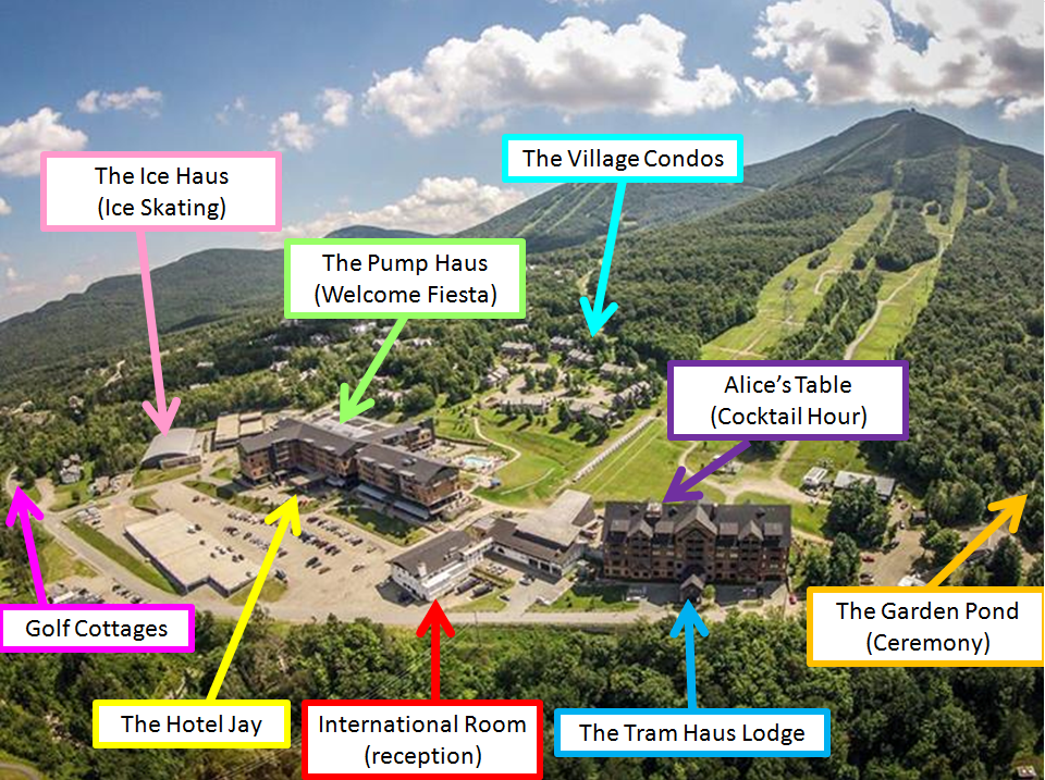 Jay Peak Or Bust Resort Map With Wedding Event Locations