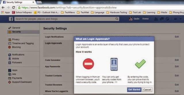 10 cách tăng cường bảo mật cho Facebook