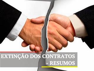 Extinção dos contratos resumo direito civil