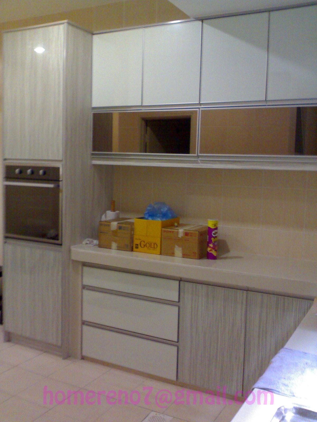 Kabinet Dapur | Plaster Siling-Grill-Gate-Kabinet Dapur Aluminium