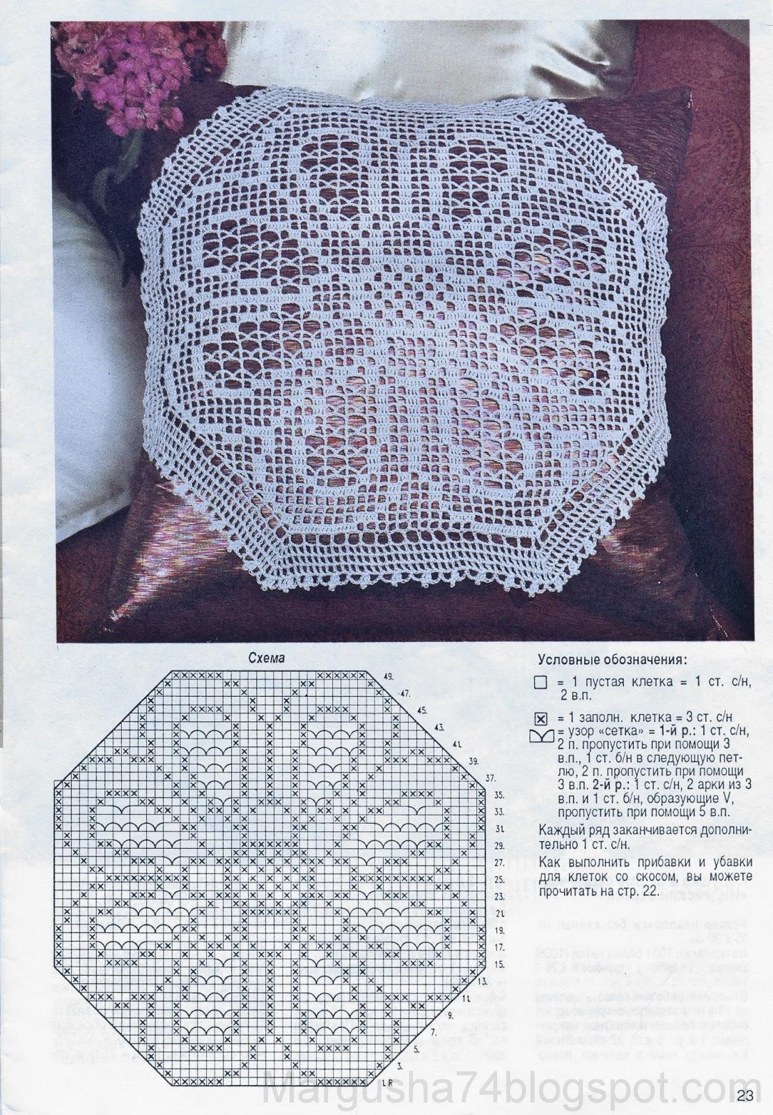 Филейная техника вязания 97