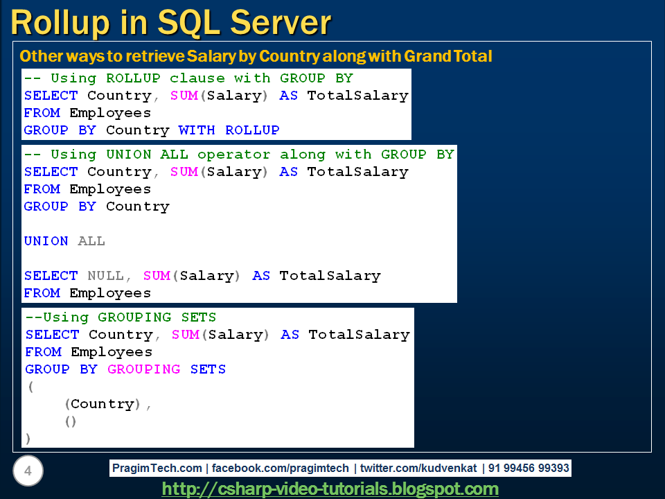 sql server,  and c# video tutorial: rollup in sql server, Human Body
