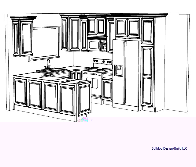 Bulldog design build llc 3d kitchen design layouts Kitchen design layout photos