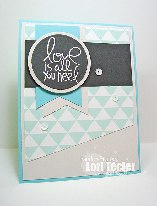 Love Is All You Need card-designed by Lori Tecler/Inking Aloud-stamps from Paper Smooches