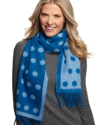 polkadots cashmere scarf
