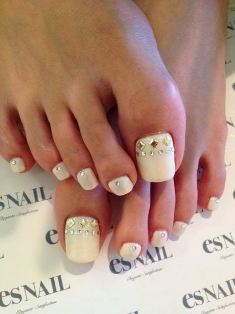 Art nails toes - unhas de gel pés tendencias