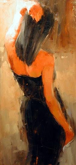 pintura de bela jovem