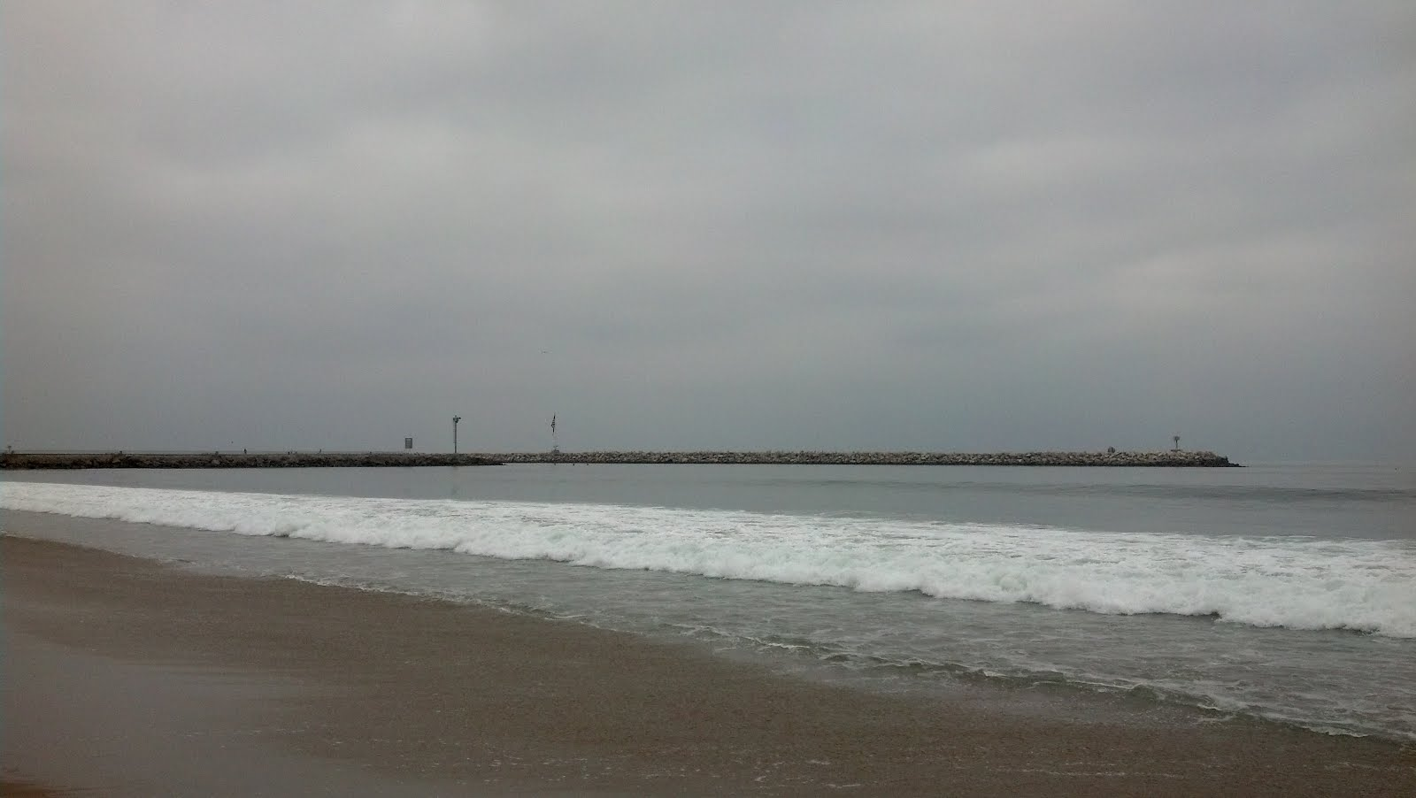 Overcast at the beach, Marina del Rey