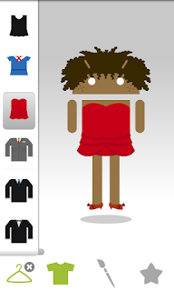 androidify - wardrobe selection