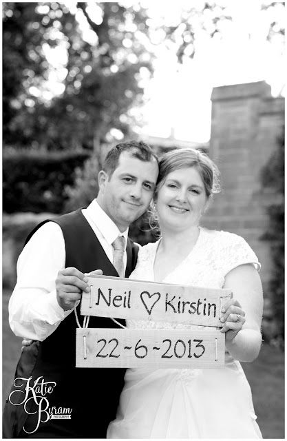 ellingham hall, ellingham hall wedding, northumberland wedding photographer, newcastle wedding photographer, ceremony signs, paper pom poms, quirky wedding photography, katie byram photography, diy wedding