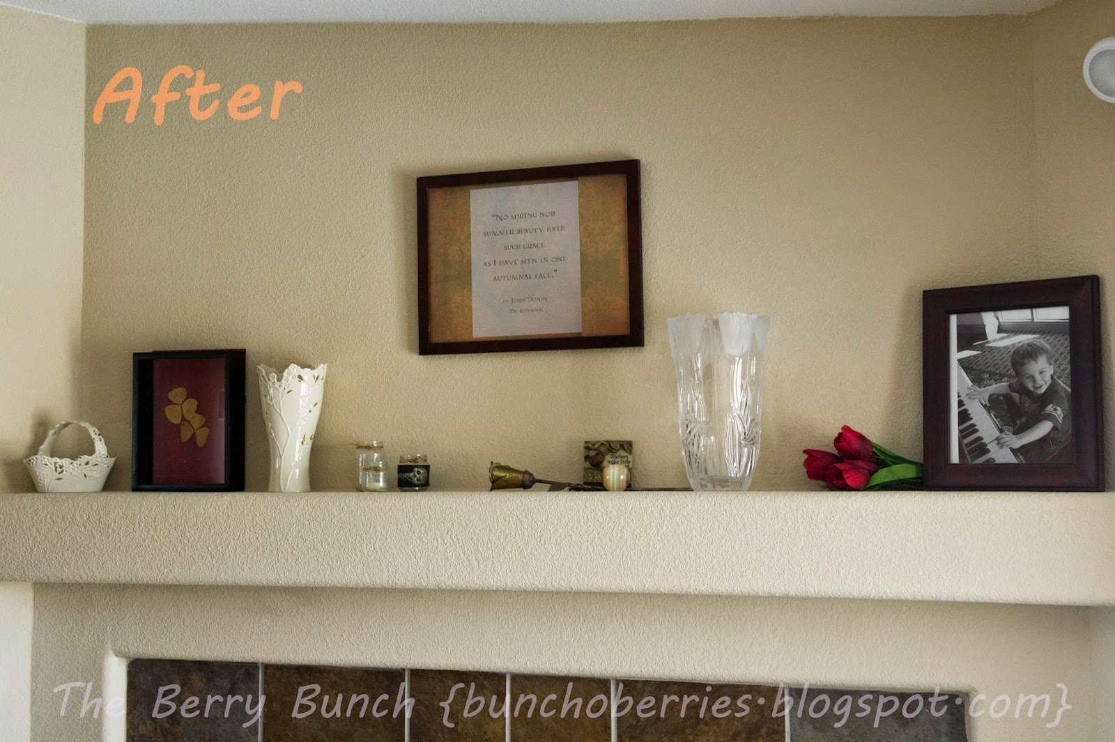The Berry Bunch: Welcome Fall: Decorate a Mantle {Free Printable}