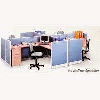 Partisi Kantor Uno Konfigurasi 4 Staff