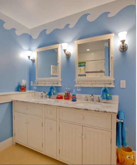 Ocean Themed Bathroom : Bathroom ocean theme for kids