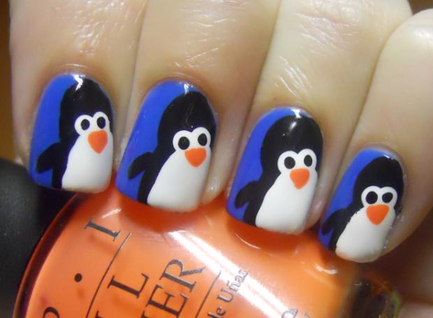holy manicures penguin nails