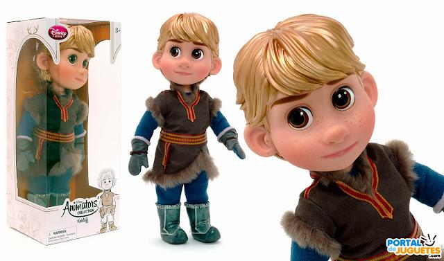 muñeco kristoff coleccion disney animators frozen caja posado disney store