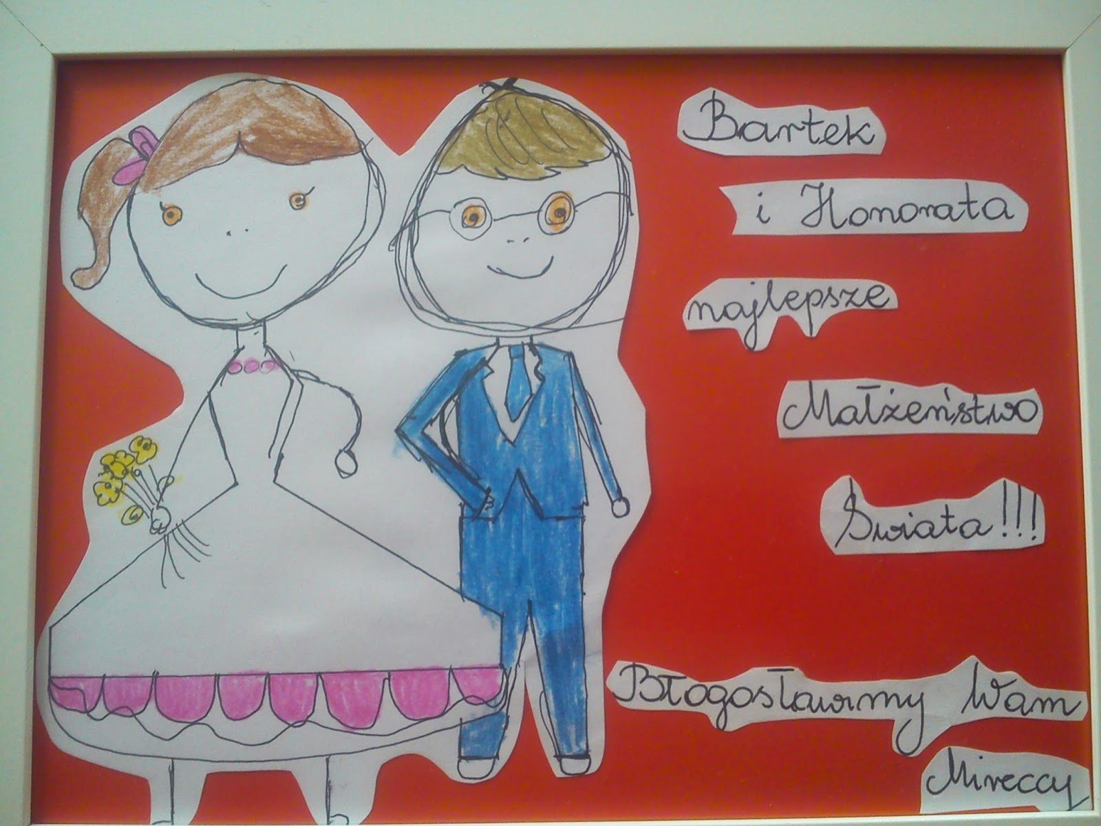 Ślubna kartka - dla Honoraty i Bartka