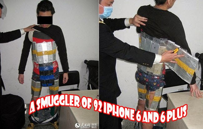 A Smuggler of 92 iPhone 6 and 6 Plus had been Arrested in Futian Port