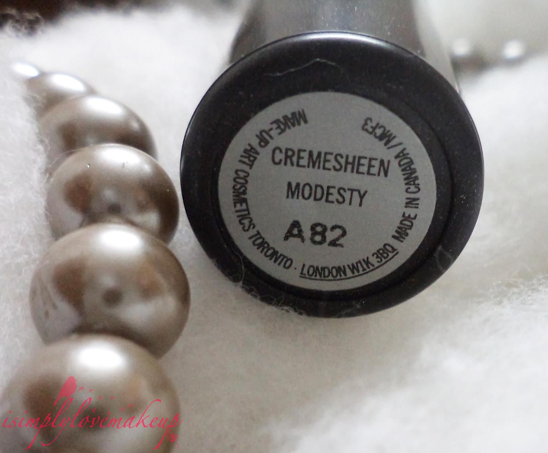 REVIEW: MAC Cremesheen Lipstick Modesty