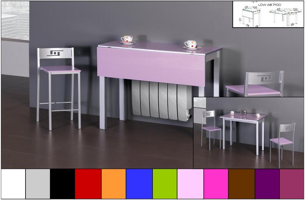 Cristal colores loading zoom botellas de cristal decorativas de colores fachada de vidrio de - Mesas de cocina abatibles ...
