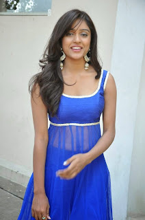 Actress Vithika Sheru Latest Pictures in Blue Salwar Kameez at Paddanandi Premalo Mari Movie First Look Launch 12