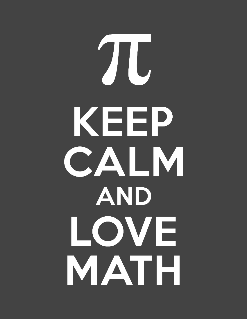 free keep calm and love math poster