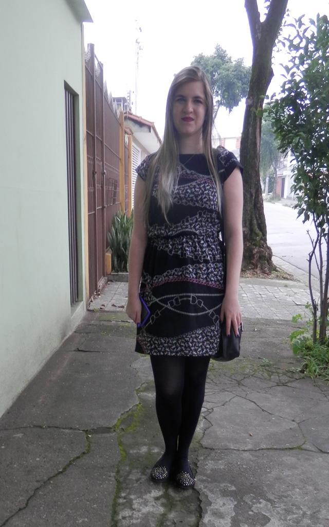 Look: Vestido estampado