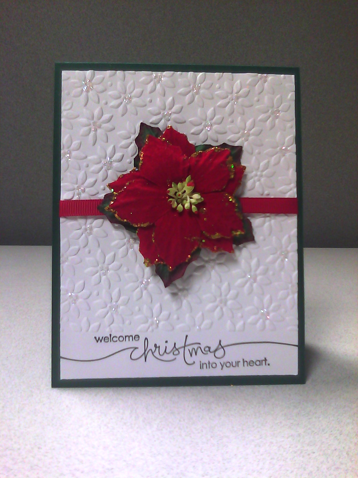Sistochris Scrapbooking And Paper Crafts Simple Poinsettia