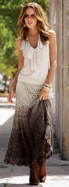 See more New Fashion Trends Ombre skirt casual