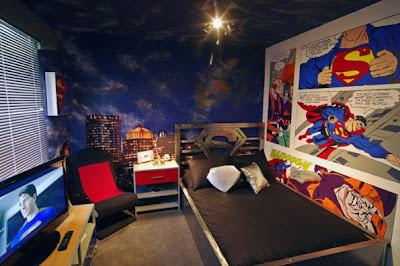 dormitorio temático superhéroes