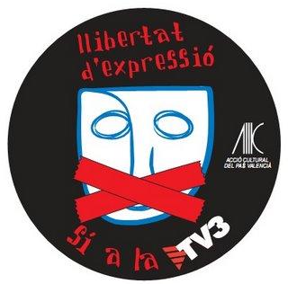 Ja han tallat la TV3 Volem+tv3+si+a+la+llibertat+expressio