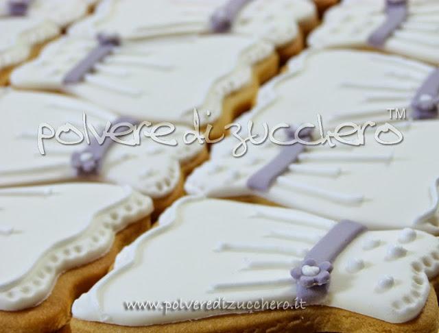 biscotti vestito per una comunione di una bimba