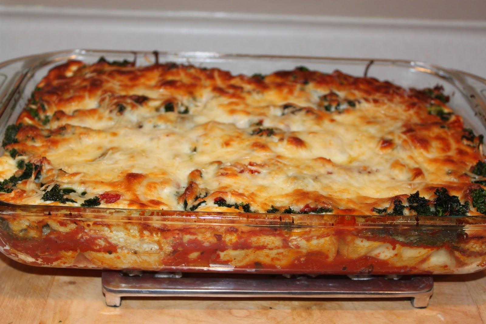 Baby Steps: Spicy Kale Lasagna