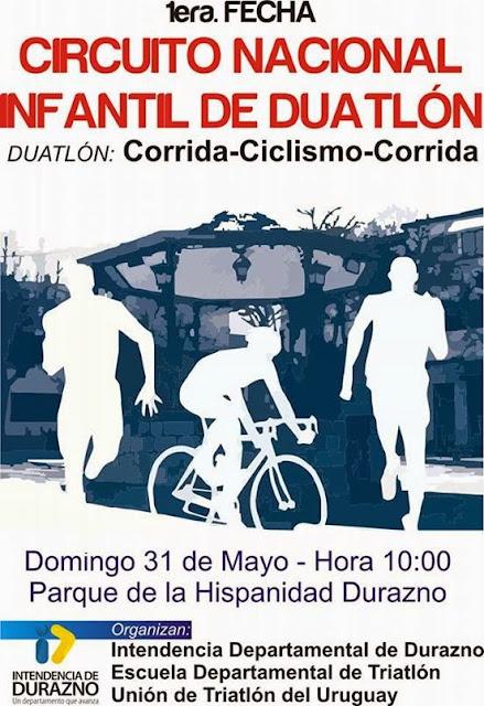 Duatlón infantil en Durazno (31/may/2015)