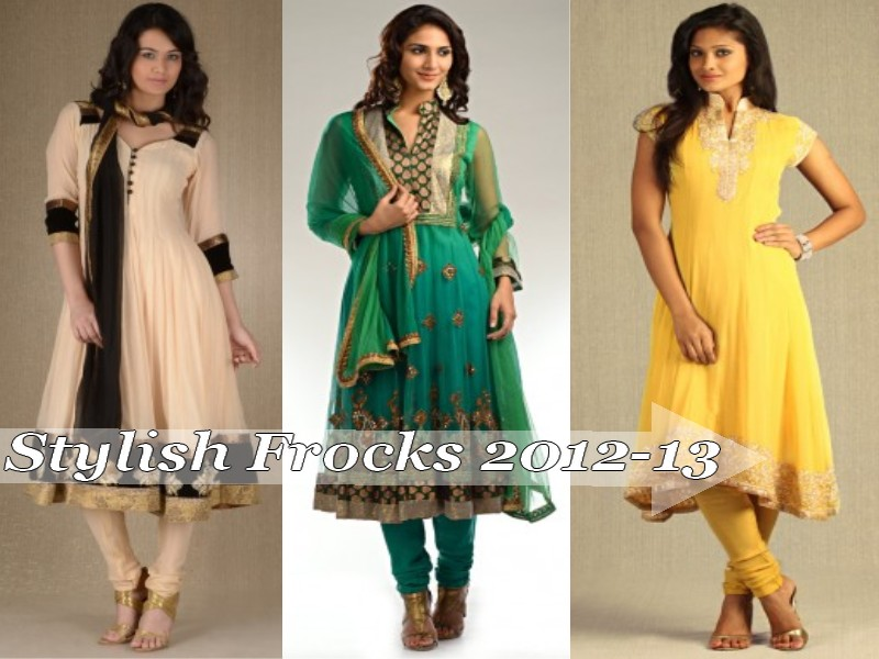 Frock Fashion 2012-13 | Anarkali Frocks With Churidar | Salwar Kameez