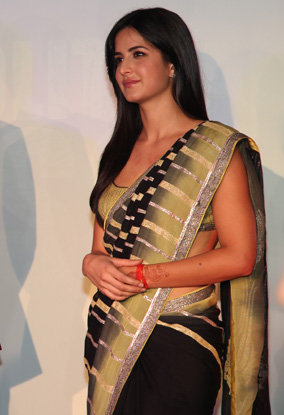 katrina kaif in black sharee