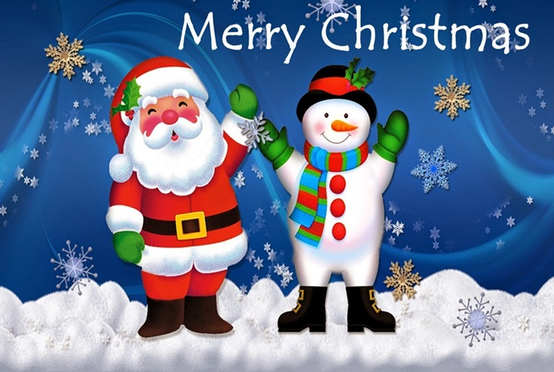 Merry Christmas Greeting For Kids