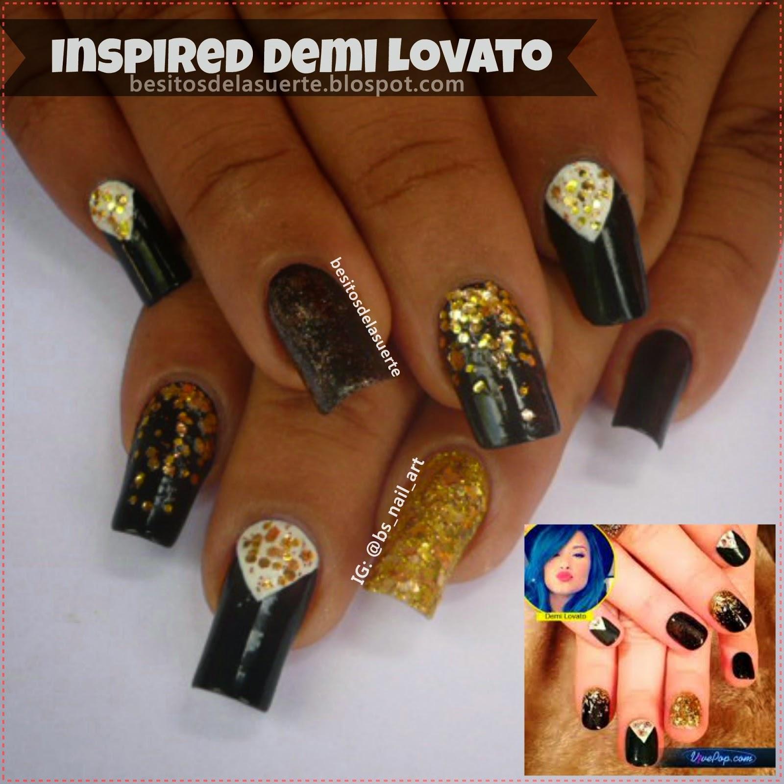 Besitos de la suerte: Reto: Celebrity nails 2- Cantante Demi Lovato
