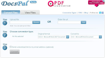 docspal online tool for docx to doc conversion
