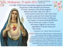 Messaggio 25 Aprile 2016