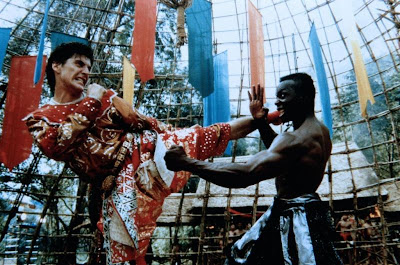 Loren Avedon and Billy Blanks face off in 1991's King of the Kickboxers.