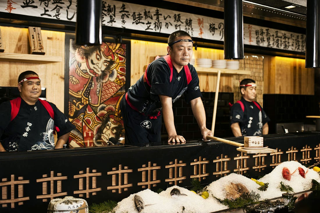 At the heart of Inakaya's dining experience is robatayaki, which transforms the Japanese grilling method into an exciting performance