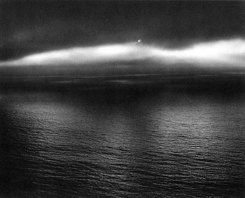 masters of photography : Minor White : photo of sea with shine