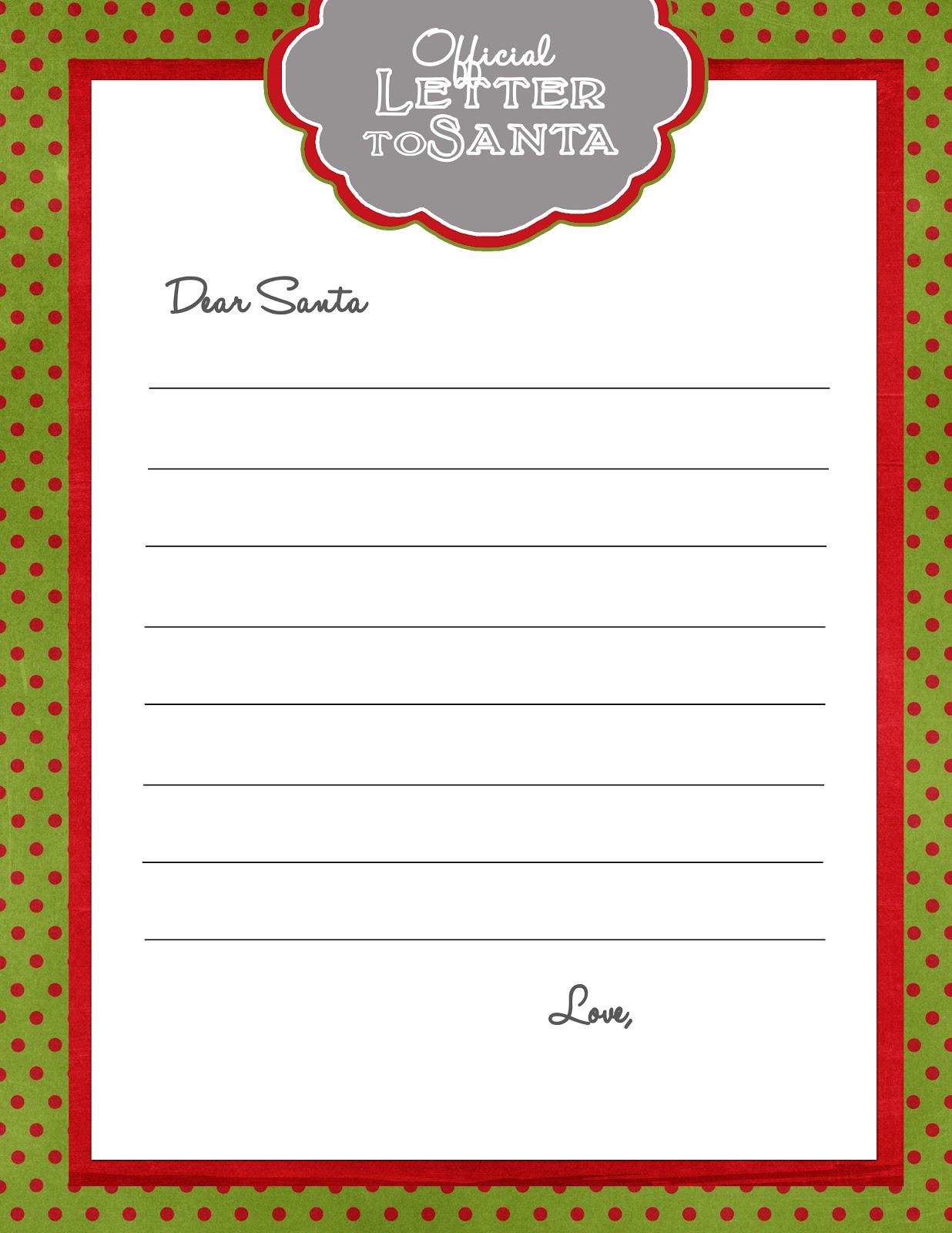 Letter From Santa Envelope Template - WeSharePics
